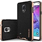 Galaxy Note 4 Case, Caseology [Bumper Frame] Samsung Galaxy Note 4 Case [Carbon Fiber Black] Slim Fit Skin Cover [Shock Absorbent] TPU Bumper Galaxy Note 4 Case [Made in Korea] (for Samsung Galaxy Note 4 AT&T Sprint, T-mobile, Unlocked)
