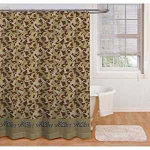 Green Brown Camouflage Duck Dynasty Fabric