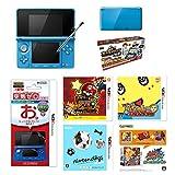 【セット商品】ニンテンドー3DS 本体青+ ソフト5点+液晶保護フィルター(7点パック)