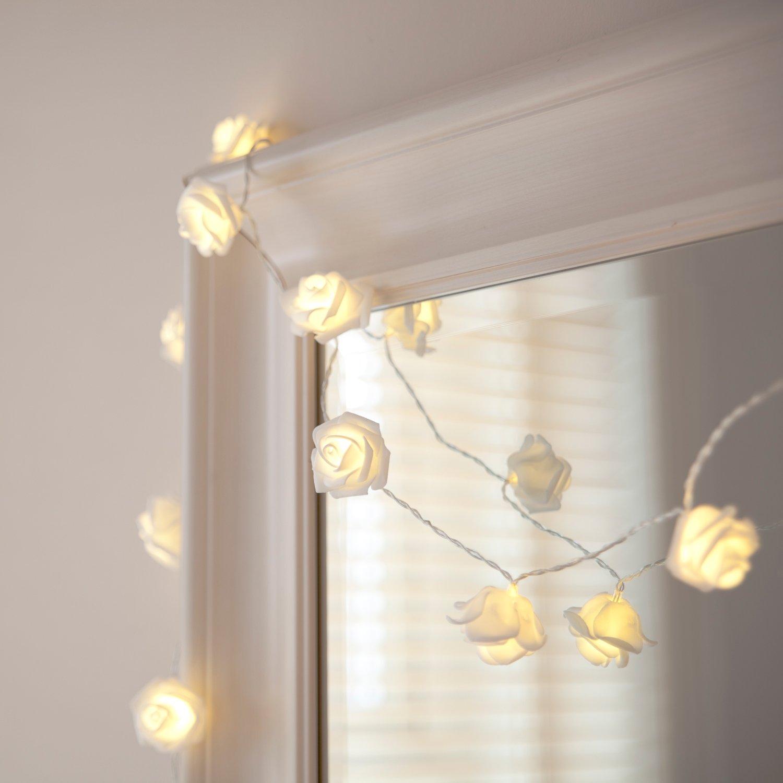 rezension 20er led rosen lichterkette warmwei batteriebetrieben sehr sch n himmelbett vorh nge. Black Bedroom Furniture Sets. Home Design Ideas