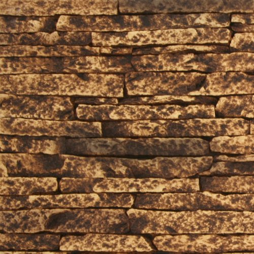Texture Plus Indoor/Outdoor Siding Panel, Stacked Stone, Tan - Sample