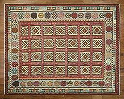 13\'x16\' Handmade Flat Weave Reversible Kilim Hand Knotted Wool Rug W503