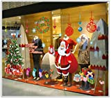 【CG】ウォールステッカー クリスマス LL特大サイズ  サンタ クロース トナカイ ツリー そり