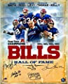 Buffalo Bills Autographed 16'' x 20'' Photograph with 5 Signatures and HOF Inscription - Fanatics Authentic Certified