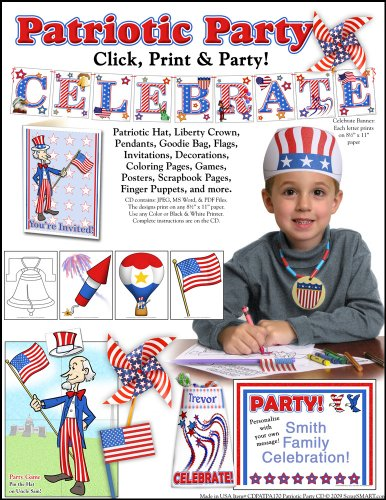 Scrapsmart - Patriotic Party Software Kit - Jpeg, Pdf, And Microsoft Word Files [Download]
