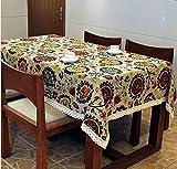 Tmalltide 55x63-Inch Linen& Cotton Rectangular Shabby Chic Dinner Summer & Picnic Tablecloth(sunflower)