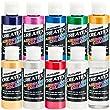 2 oz. Bottles 10 Color Pearlized Illustration Airbrush Paint Set - Part# CRE KIT-P10