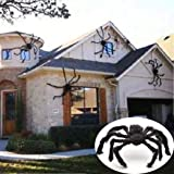 Erholi Halloween Solid Decorations Simulation Plush Spider Decorative Props Photobooth Props(75 x 75cm/29.5 x 29.5inch) (Color: Black, Tamaño: One Size)