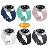 Bands Compatible Samsung Gear S2 Watch, NaHai Soft Silicone Replacement Sport Strap Wristbands Samsung Gear S2 Smart Watch, SM-R720/SM-R730 (Y-6 Pack) (Color: Y-6 Pack)