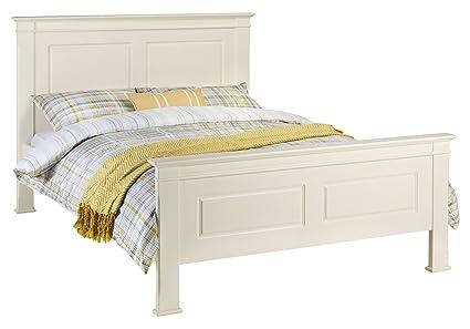 Julian Bowen La Rochelle Bed, Wood, Ivory, Double, 135cm