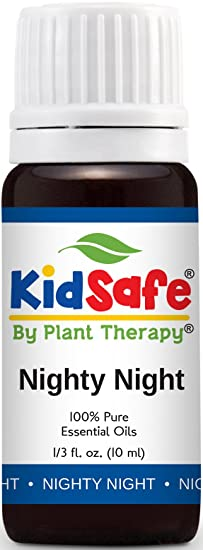 KidSafe Nighty Night Synergy Essential Oil Blend 10 ml (1/3 oz). 100% Pure, Undiluted, Therapeutic Grade. (Blend of: Lavender, Marjoram, Mandarin, Cedarwood Atlas, Patchouli, Clary Sage, Chamomile Roman and Tansy Blue.)