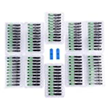 100Pcs Embedded Optic Fiber Connector SC/APC Quick Fast Cold Connector Connection Adapter for FTTH
