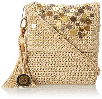 The SAK Casual Classics Flap Cross Body,Pearl With Sequins,One Size