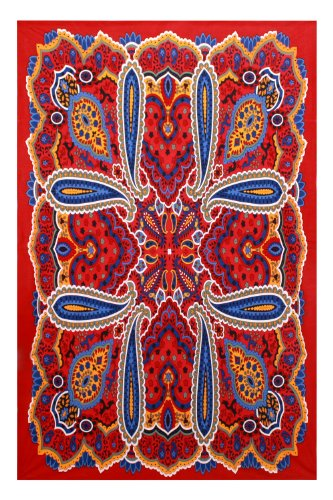 80's Psychedelic Paisley Hippie Tapestry Bohemian Chic