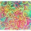 """600 Elastiques PHOSPHORESCENTS et FLUORESCENTS + Attaches """"S"""" - Multicolore"""