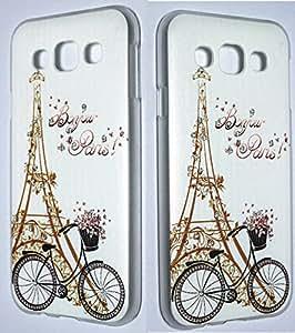 Cute Diamond Eiffel Tower Paris Print Hard Back Case Cover For Samsung Galaxy E7 SM-E700