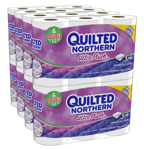 Quilted Northern Ultra Plush Double Rolls, 6 Rolls, Pack of 8 (48 Rolls) (Packaging May Vary)