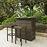 Crosley-KO70009BR-3-Piece-Palm-Harbor-Outdoor-Wicker-Bar-Set-with-Bar-and-Two-Stools-Brown