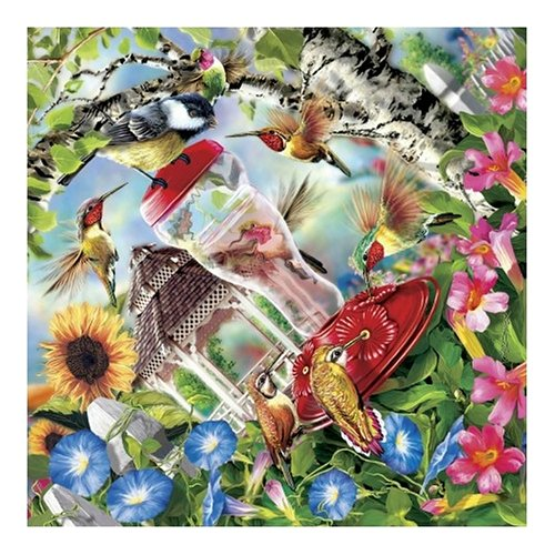 61EJ32G9WML Reviews Master Pieces Hummingbirds in bloom diamond 500 Piece Jigsaw Puzzle