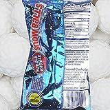 Dubble Bubble Snowballs Blue Raspberry Gumballs (2.32 Oz) - Pack of 4 Bags (No Gluten ~ No Peanut)