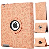 Chrysansmile IPAD2/3/4ケース  Ipadケース  アプルアイパッド  ケース  iPad2/3/4 カバー PUレザーIpadケース 360度回転式 スタンド仕様  魔法少女 11色