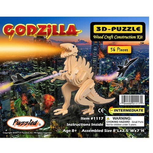 Puzzled Godzilla Wooden 3D Puzzle Construction Kit