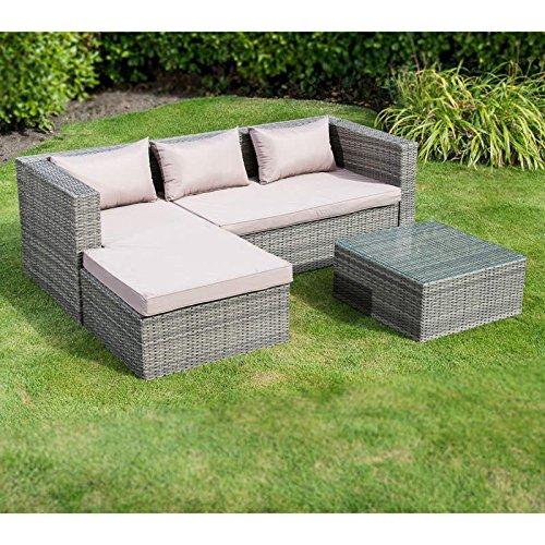 Buy Garden Corner Sofa: Cheap GARDEN WESTBURY LUXURY RATTAN EFFECT CORNER SOFA