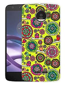 "Ethnic Birds Doodle CutePrinted Designer Mobile Back Cover For ""Motorola Moto Z"" (3D, Matte, Premium Quality Snap On Case)"
