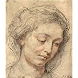 Art Panel - Head Of A Woman [2] By Rubens