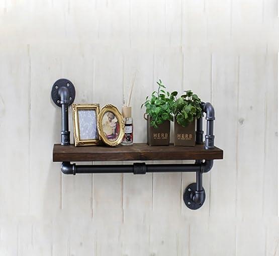 Pareti attrezzate Plumbing Wall Hanging Mensole Vintage Bar Decor Wall Hanging Soggiorno Decorazione Soggiorno Soggiorno Libreria Mensola industriale ( dimensioni : 80*20cm )