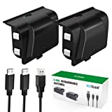 Xbox One Controller Battery Pack, YCCTEAM 1200mAh Rechargeable Battery [2-Pack] for Xbox One/X/S/Xbox One Elite Wireless Controller with 5FT Micro USB Charging Cable and LED Charging Indicator