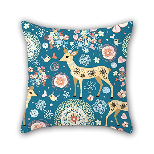PILLO 16 X 16 Inches / 40 By 40 Cm Deer Pillow Cases ,twice Sides Ornament And Gift To Chair,home,family,car