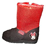 Disney Minnie Mouse Girls Red Sequin Faux Fur Boots 9