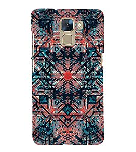 Abstract Painting 3D Hard Polycarbonate Designer Back Case Cover for Huawei Honor 7