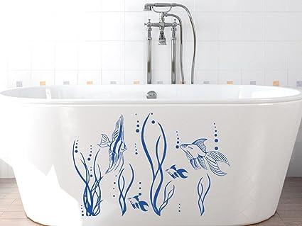 Wandtattoo fische im ozean f r badezimmer wanddekoration for Badezimmer wanddekoration
