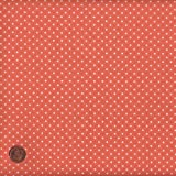 "Tangerine mini Polka Dot (Dot) French Fabric Cotton 140CM / 55"" Wide. Per Half Metre"