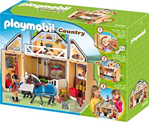 PLAYMOBIL 5418 - Aufklapp-Spiel-Box, Reitstall