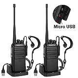 2X RADIODDITY GA-2S UHF 400-470MHz Auto-escaneo 1500mAh CTCSS/DCS Radio bidireccional US