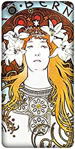 The Racoon Grip printed designer hard back mobile phone case cover for Sony Xperia M5. (La Plume)