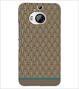 PrintDhaba Pattern D-1519 Back Case Cover for HTC ONE M9 PLUS (Multi-Coloured)