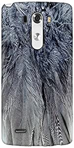 Snoogg Feathers 2 Texture Designer Protective Back Case Cover For LG G3