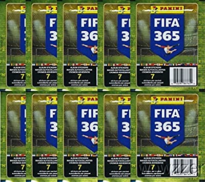 2016 Panini FIFA 365 Stickers Lot of TEN(10) Factory Sealed Packs with 70 Stickers! Look for Top Soccer Super Stars from around the World including Lionel Messi, Ronaldo,Neymar Jr.  & Many More!