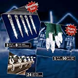 White Shooting Star and Starry Night LED Starter Kit with gutter clips