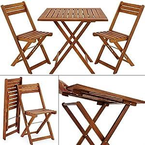 Wooden Garden Dining Furniture Set Folding Table Chairs Set Acacia Hardwood O
