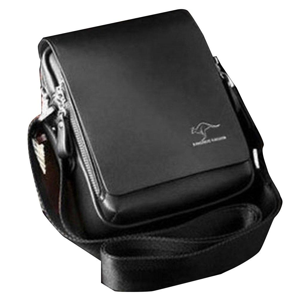 Fashion Kangaroo Mens Leather Crossbody Shoulder Messenger Bag Briefcase 45