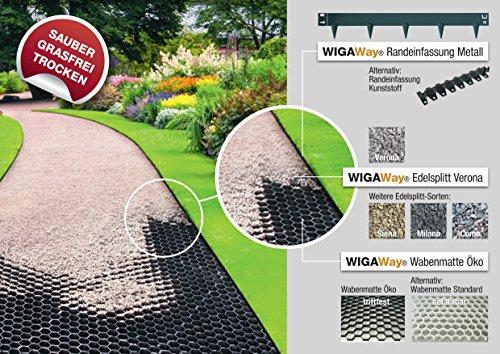 wigaway 5 er pack rasenkante metall randeinfassung. Black Bedroom Furniture Sets. Home Design Ideas