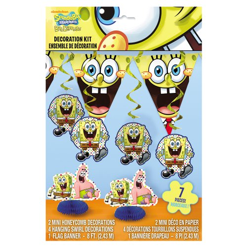 SpongeBob SquarePants Party Decoration Kit, 7pc