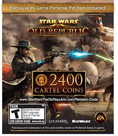 Star Wars The Old Republic: 2400 Cartel Coins + Exclusive Pet [Online Game Code]