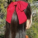 ちりめん 大リボン コーム 蝶結び (赤) 卒業式 りぼん 袴 かみかざり 髪飾り はいからさん 卒園式