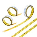 5M/196 Inches Self Adhesive Tape Measure, Metric/inch Miter Saw Steel Ruler,Left to Right